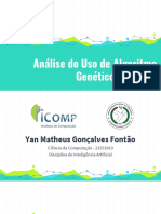Análise de Uso de Algoritmos Genéticos com RNA