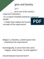10. Religion and Society