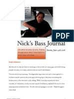 Nick's Bass Journal