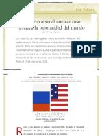 El Nuevo Arsenal Nuclear Ruso Restaura La Bipolaridad Del Mundo, Por Thierry Meyssan