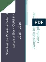 Structuri 2 - Plansee de b.a Calculul Placilor