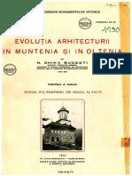 Ghika-Budesti Nicolae - Arhitectura Religioasa in Muntenia Si Oltenia in Secolul XVI