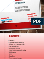 Placement Record Management Ppt