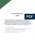 Bando EstateINPSieme 2018 Soggiorni Studio Italia
