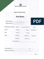 Dosier de Libro de Registro, Nivel Secundario