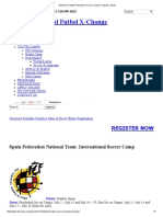 Spanish Football Federation Soccer Camps in Madrid, Spain