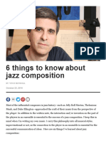 6 Things to Know About Jazz Composition by Vince Mendoza
