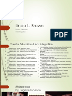 Linda Brown - Theatre Education and Arts Integration