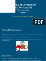 the role of government and responsible citizenship