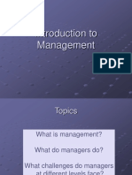 Management Principles and Practices Introduction to Management Class