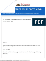 Shear Strength of Soil by Direct Shear Test