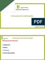 204481-Aula 9 - Patologia Das Construções - Revestimentos