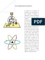 Cuál es a la Importancia de la Química