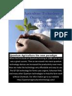 Quantum Agriculture the New Paradigm in Farming