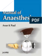 Manual of Anaesthesia (2008)