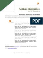Analisis Matemático Fce_Bibliografía CIV 2018