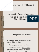 Plural Nouns Generalizations