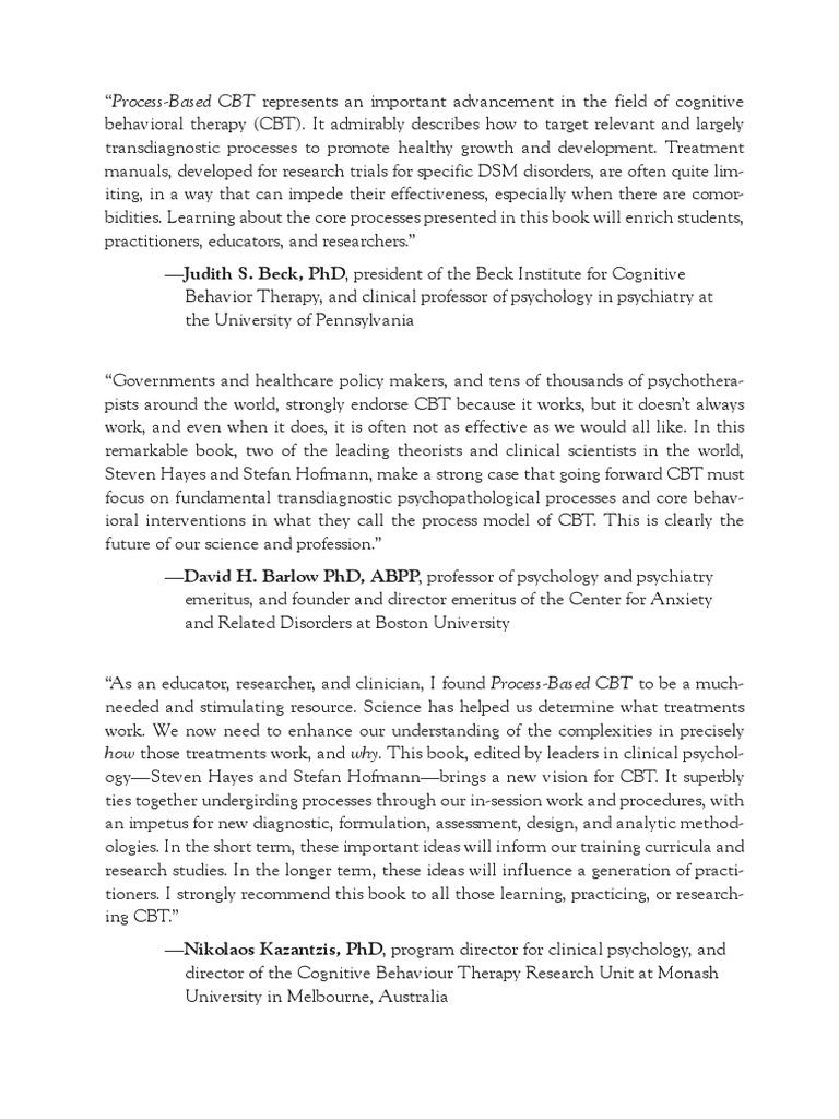 Process Based CBT Digital Exam Copy | Cognitive Behavioral