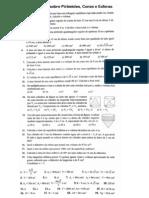 Lista de exercícios sobre Pirâmides, Cones e Esferas