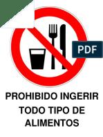 prihibido ingerir alimentos