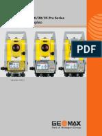 Manual de Usuario Estacion Total GEOMAX ZOOM 20 30 35 PRO