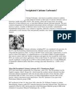 What is PCC (Precipitated Calcium Carbonat)