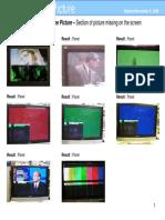 Panasonic Plasma Symptom Pictures