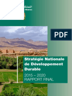 Strategie Nationale de Developpement Durable 2015 2020