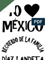 YO AMO A MÉXICO