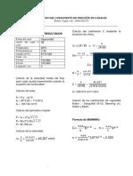 Informe sobre coeficiente de fricción en canales