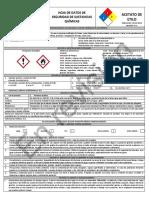HDS Acetato de Etilo NOM 018 2015 MARY MEAG DGTF Hoja de Datos