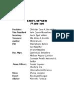 2017 Kamfil Officers