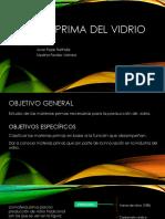 Presentación Materia Prima Del Vidrio