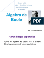 Electrónica Digital o Electrónica de Circuitos Integrados - Tema 2 - Algebra de Boole