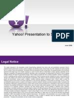 Yahoo Shareholder Presentation