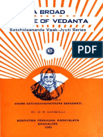 A Broad Outline of Vedanta