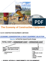 (2) COST of Equipment