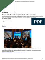 Presentan Política Nacional de Competitividad Basada en 11 Cluster Productivos