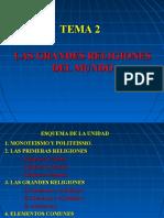 Las Grandes Religiones Tarea tema 2