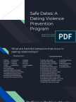 copy of safe dates  a dating violence curriculum