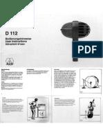 AKG D112 Drum Mic Manual