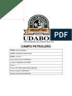 Campo Petrolero Asignatura Laboratorio de Analisis