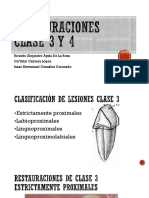 Restauraciones Clase 3 y 4