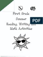 First Grade Summer Packet