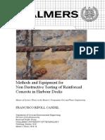 Non Destructive testing on reinforced concrete