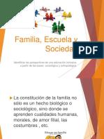 Familia Escuela y Sociedad