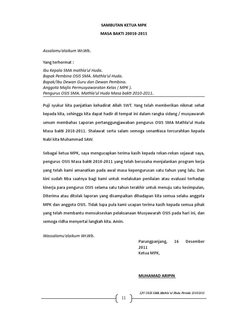 Contoh Laporan Pertanggungjawaban Kegiatan Osis Sma Doc Kumpulan Contoh Laporan