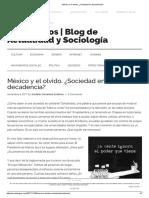 México y El Olvido. ¿Sociedad en Decadencia