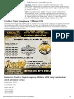Prediksi Togel Hongkong 11 Maret 2018