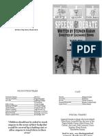Speech and Debate Program